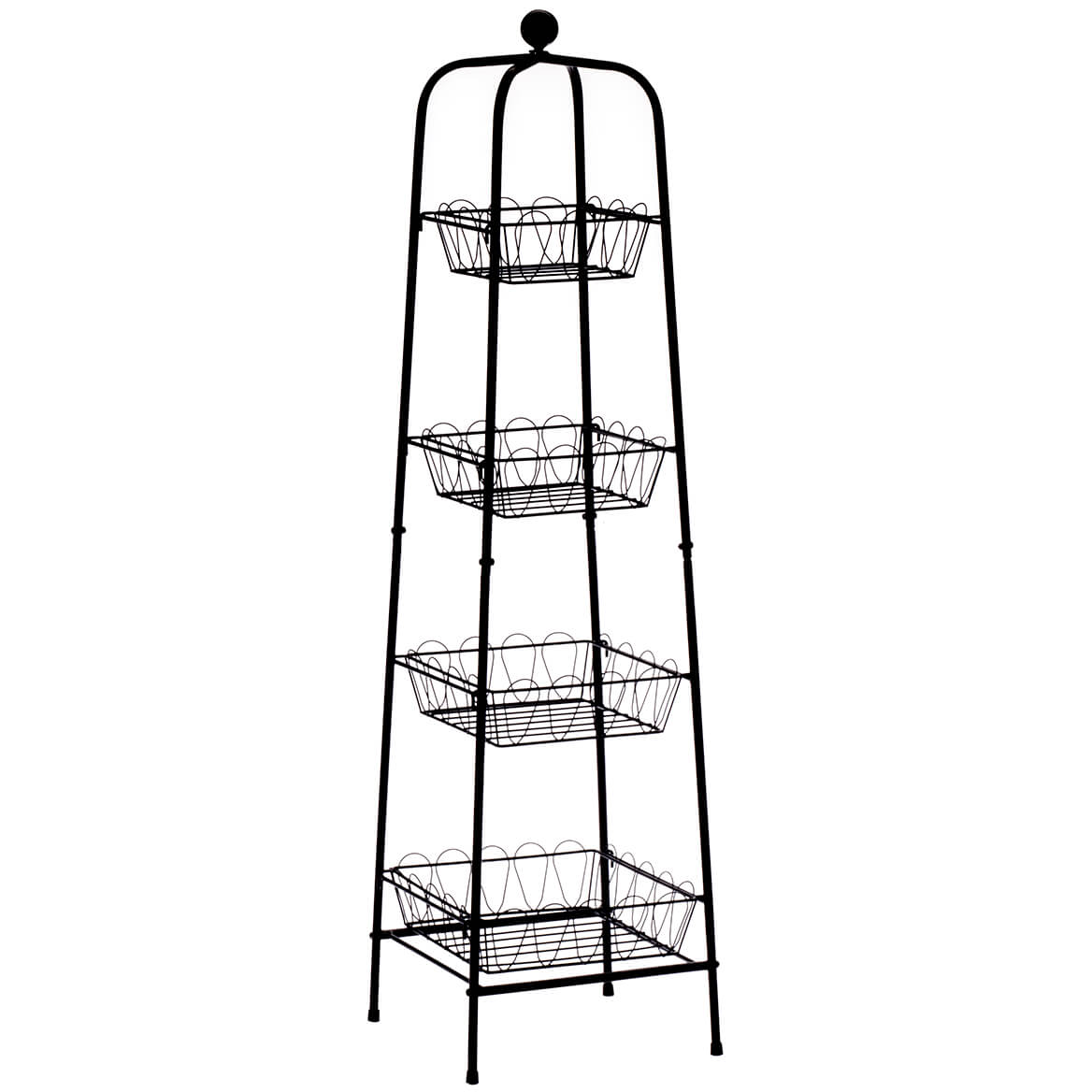 4-Tier Metal Basket Tower