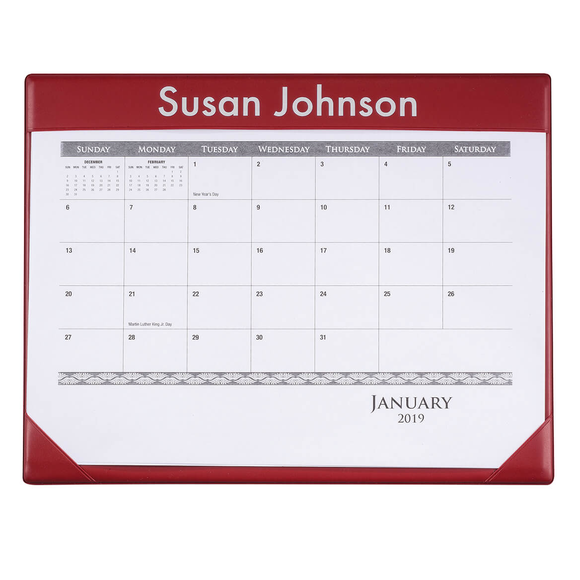 Personalized Desk Pad Calendar